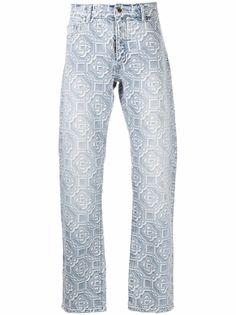 Casablanca прямые джинсы с геометричным принтом