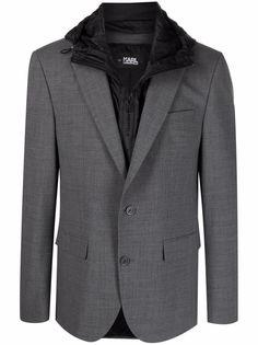Karl Lagerfeld пиджак со съемным капюшоном