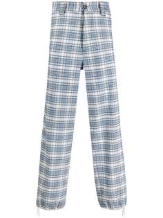 Marni клетчатые джинсы широкого кроя
