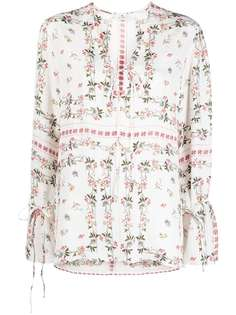 Etro блузка с цветочным принтом