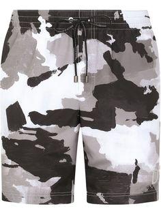 Dolce & Gabbana плавки-шорты с кулиской и камуфляжным принтом