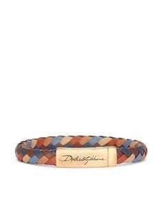 Dolce & Gabbana плетеный браслет с логотипом