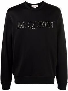 Alexander McQueen толстовка с вышитым логотипом