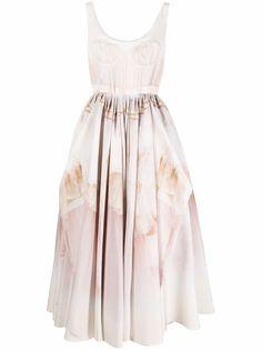 Alexander McQueen платье c драпировкой