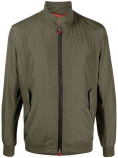 Kiton легкая куртка-бомбер с высоким воротником