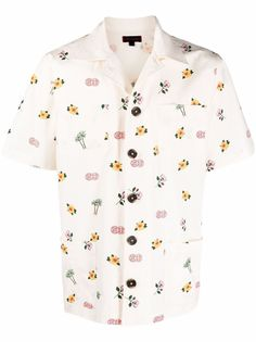 CLOT рубашка с короткими рукавами и цветочным принтом