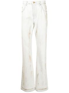We11done широкие джинсы с эффектом потертости