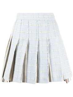 Thom Browne твидовая юбка миди со складками