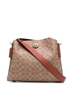 Coach сумка на плечо с монограммой
