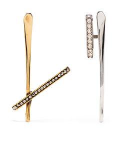 Alexander McQueen серьги-каффы с кристаллами