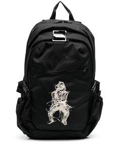 Yohji Yamamoto рюкзак с графичным принтом