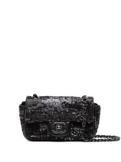 Chanel Pre-Owned мини-сумка на плечо Classic Flap 2012-го года с пайетками