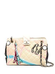 Chanel Pre-Owned сумка на плечо Paris Map 2005-го года