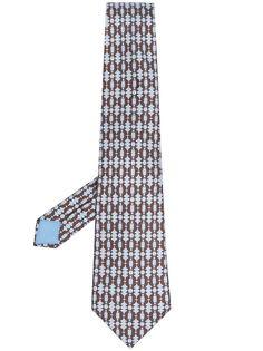 Hermès галстук pre-owned с принтом