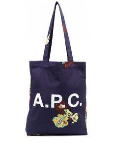 A.P.C. сумка-тоут с логотипом