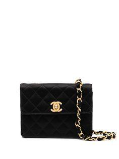 Chanel Pre-Owned стеганая мини-сумка на плечо 1990-х годов с логотипом CC