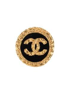 Chanel Pre-Owned брошь 1993-го года с логотипом CC