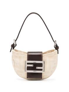 Fendi Pre-Owned маленькая сумка-тоут с узором Zucca и логотипом FF