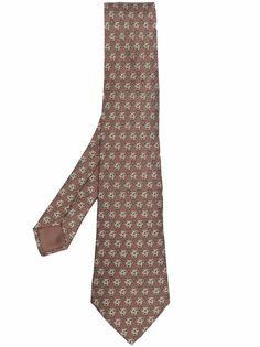 Hermès жаккардовый галстук 2000-х годов с узором