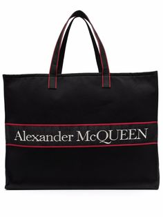 Alexander McQueen сумка-тоут из канваса с логотипом