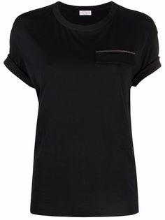 Brunello Cucinelli футболка с декором Monili