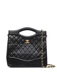 Chanel Pre-Owned стеганая сумка 1990-х годов с логотипом CC
