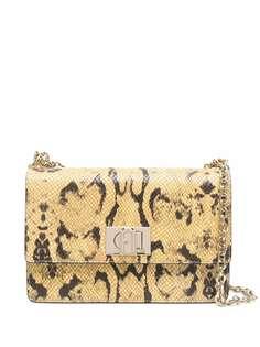 Furla сумка на плечо со змеиным принтом