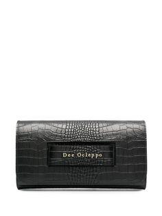 Dee Ocleppo клатч с тиснением под крокодила