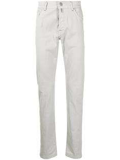 Kiton прямые джинсы с нашивкой-логотипом