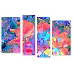 """Модульная картина на холсте """"Цветочное настроение"""" 170x117 см Modulka.Ru"""