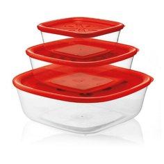 Набор из 3-х контейнеров Forme Casa красный Guzzini