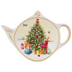 """Подставка для чайного пакетика Lefard """"с новым годом!"""" елка 11,5х8,5 см (85-1609)"""