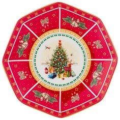 """Блюдо Lefard """"с новым годом!"""" елка 18,5 см красное (85-1621)"""