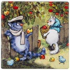 "Подставка под горячее Lefard Коллекция ""Blue Cats"" 10х10 см (229-544)"