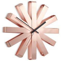 Часы настенные кварцевые Umbra Ribbon 118070 медь