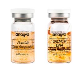 Stayve Сыворотка для лица под дермапен/мезороллер, набор 2 ампулы х 8мл, золото/пептиды + ДНК лосося