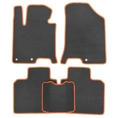 Комплект ковриков для салона ЕВА Hyundai Sonata VIII (DN8) 2019-н.в. (оранжевый кант) Vicecar