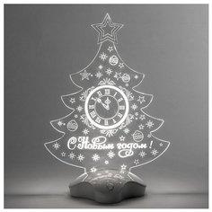 Фигурка Luazon Lighting Елка с часами 26 см белый