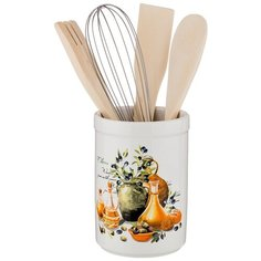 Подставка для кухонных инструментов Lefard Греческая оливка 230-198, 9х14 см