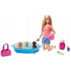 Кукла Barbie Купание щенков, 30 см, GDJ37