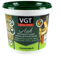 Лак VGT акриловый пропиточный с антисептиком полиакриловый ореховое дерево 0.9 кг