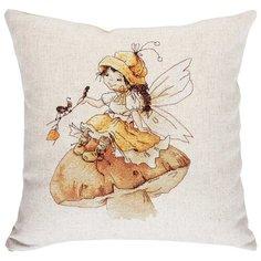 Набор для вышивания, подушка Девочка и муравей, Luca-S 40 х 40 см PB133
