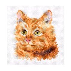 """""""Алиса"""" набор для вышивания 0-207 """"Животные в портретах. Рыжий кот"""" 8 х 8 см"""