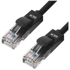 Патч-корд для подключения к интернету GCR LSZH кат5e ethernet high speed 1 Гбит/с RJ45M малодымный черный 0.3м