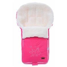 Конверт-мешок Nuovita Islanda Bianco меховой 90 см розовый