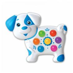 Развивающая игрушка Азбукварик Веселушки Собачка, белый