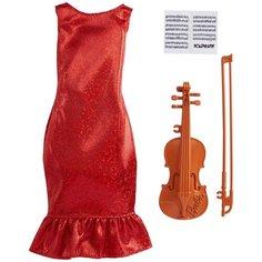 Barbie Наряд скрипачки для куклы Barbie GRC53 красный