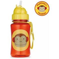 Поильник с трубочкой SKIP HOP Zoo Straw Bottle, 350 мл monkey