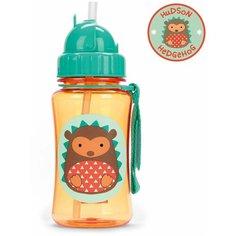 Поильник с трубочкой SKIP HOP Zoo Straw Bottle, 350 мл hedgehog