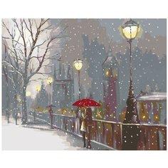 Первый снег Раскраска по номерам на холсте Живопись по номерам RO13 40х50
